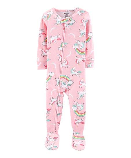 Carters Pink Unicorn Footie Pajama