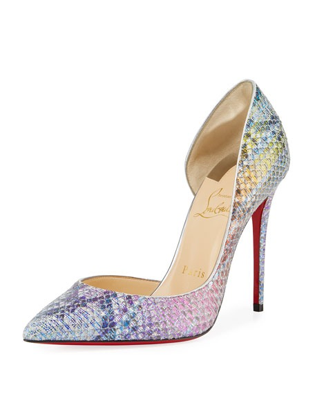 Christian Louboutin Iriza Python Unicorn Red Sole Pumps