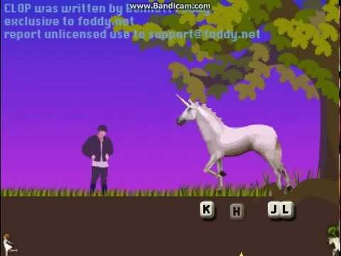 Clop (qwop But With A Unicorn!)