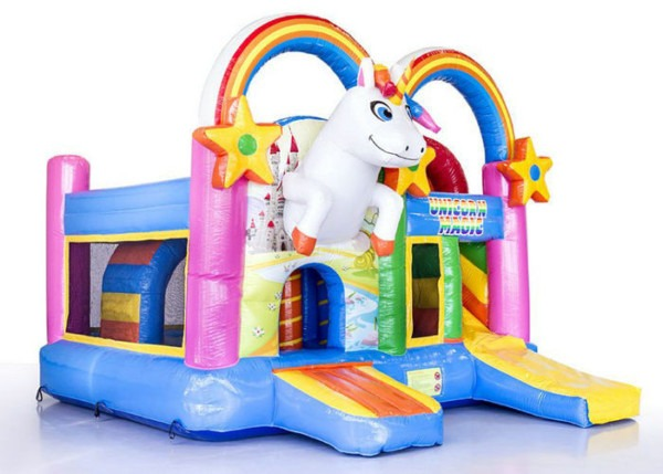Colorful Unicorn Party Inflatable Bouncer Jumper Combo Ul En14960