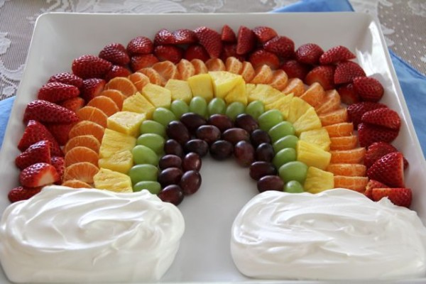 Creative Baby Shower Fruit Trays