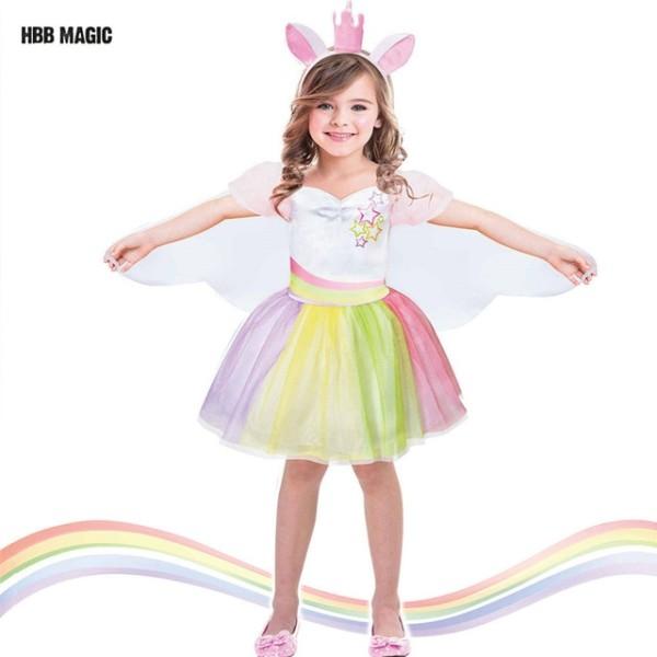 Creative Dress Up As Dance Unicorn Tutu Dress Kids Cosplay Magical