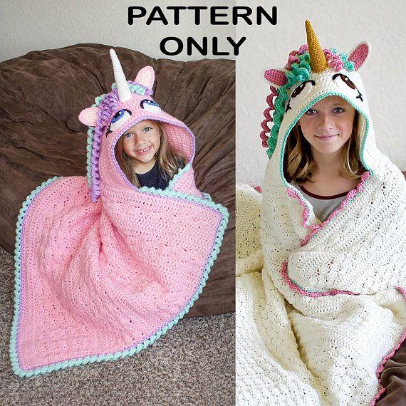 Crochet Unicorn Blanket Pattern