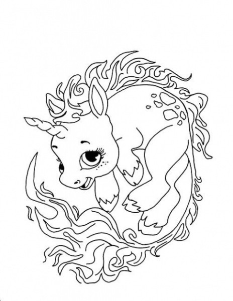 Cute Baby Unicorn Drawing At Paintingvalley Com