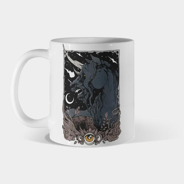 Dark Unicorn Mug By Mirjanaaracki Design By Humans