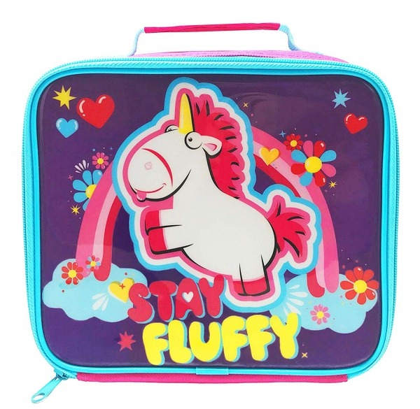 Despicable Me Minions Fluffy Unicorn School Rectangle Lunch Bag