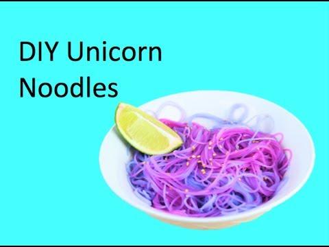Diy Unicorn Noodles
