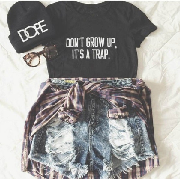 Don't Grow Up It's A Trap Tumblr Shirts Women Cute T Shirt