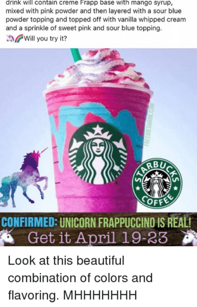 Drink Will Contain Creme Frapp Base With Mango Syrup Mixed With