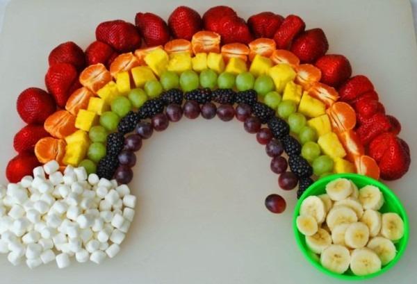 Easy Rainbow Party Food Ideas