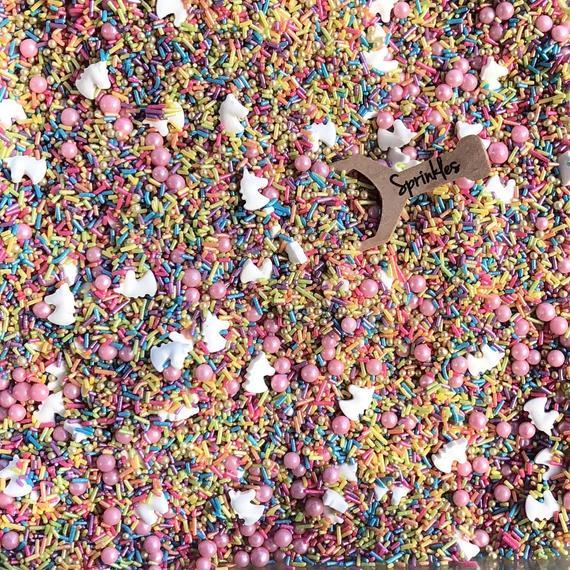 Edible Sprinkles Sprinkle Mix Sprinkles Unicorn Sprinkles