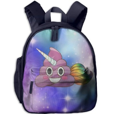 Funny Schoolbag Backpack Cute Magical Unicorn Poop Emoji With Ra