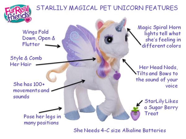 Furreal Friends Starlily Giant Stuffed Talking Unicorn – Robotic