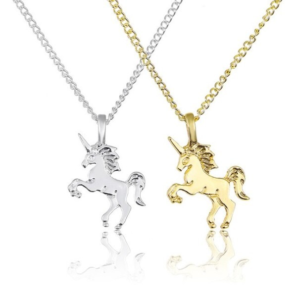 Fworld New Popular Small Cute Unicorn Necklaces For Women