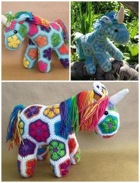 Get The— African Flower Crochet Unicorn Pattern By Heidi Bears
