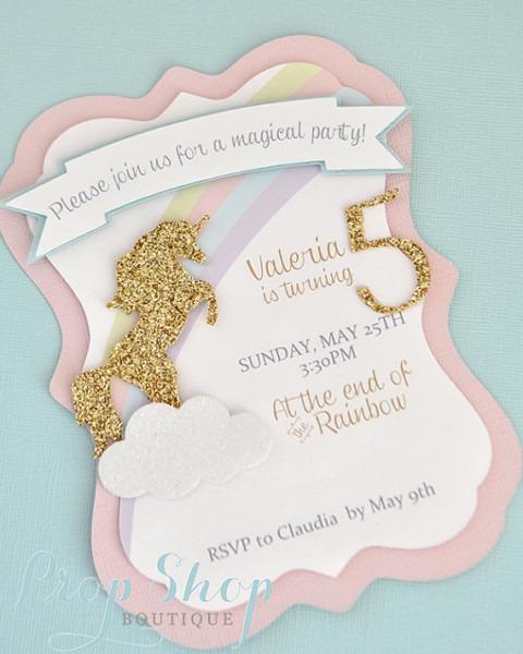 Girl's Spring Garden Butterfly Birthday Invitation, Layered