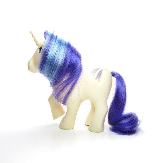 Glory My Little Pony Unicorn G1 White With Shooting Star Cutie