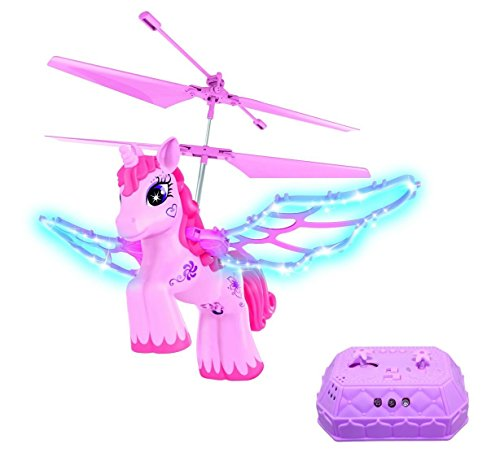 Haktoys Hak201 Rc Pink Unicorn Helicopter For Girls With Flapping