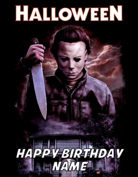 Halloween Michael Myers Edible Image Birthday Cake Topper