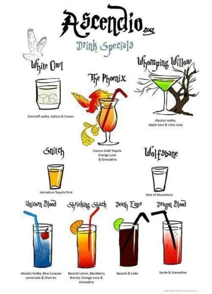 Harry Potter Mixed Drinks