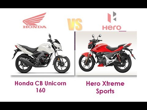 Honda Cb Unicorn 160 Vs Hero Xtreme Sports Full Comparison