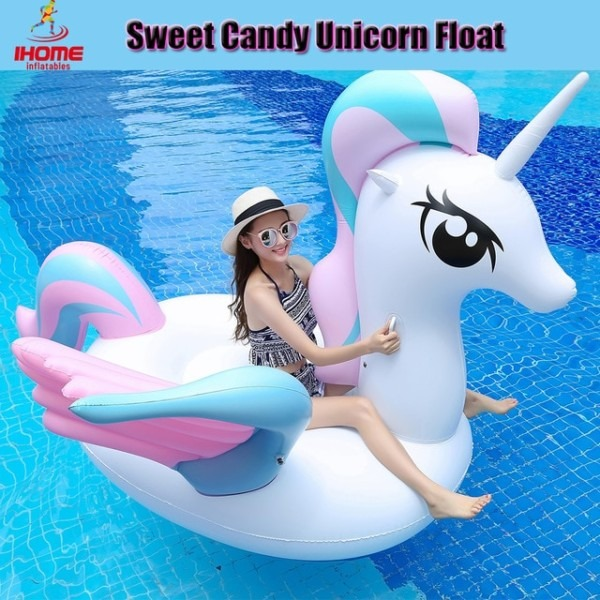 Hot Sale Sweet Candy Unicorn Float Inflatable Water Mattress 250 X