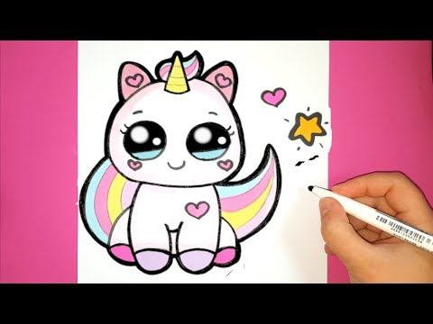 How To Draw A Cute Baby Unicorn