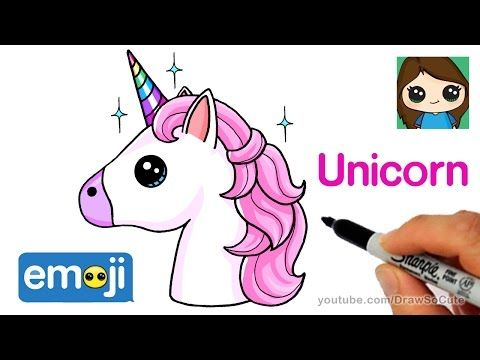 How To Draw A Unicorn Emoji Easy