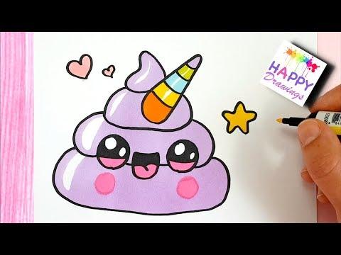 How To Draw Cute Rainbow Unicorn Emoji Poop