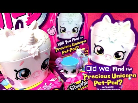 Huge Shopkins Wild Style Opening! The Hunt For The Unicorn Pet Pod