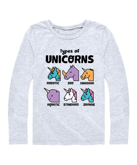 Instant Message Athletic Heather Types Of Unicorns Long