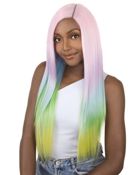 Its A Wig Synthetic Unicorn Color Lace Front Wig Straight