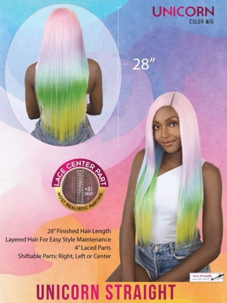 Its A Wig Unicorn Color Straight Wig
