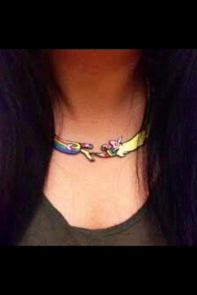 Jewels, Cute, Unicorn, Necklace, Kawaii, Adventure Time, Choker