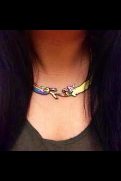 Jewels, Cute, Unicorn, Necklace, Kawaii, Adventure Time, Choker