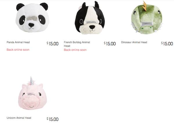 Kmart's Ridiculous Plush Animal Heads Spark The Same Reaction