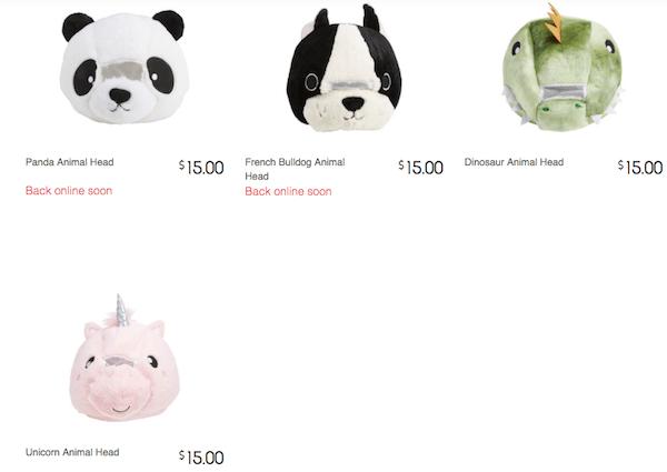 Kmart's Ridiculous Plush Animal Heads Spark The Same Reaction