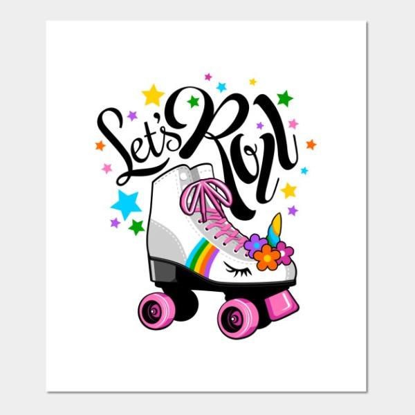 Let's Roll Unicorn Roller Skate