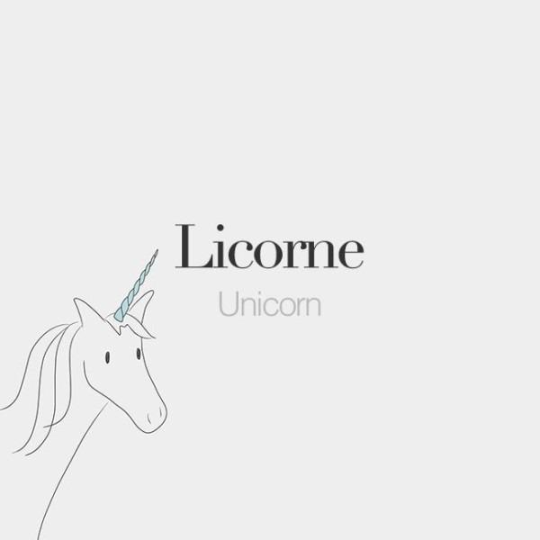 Licorne (feminine Word)