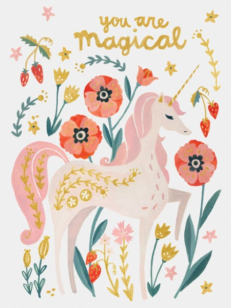 Magical Unicorn, Canvas Wall Art, 10x14