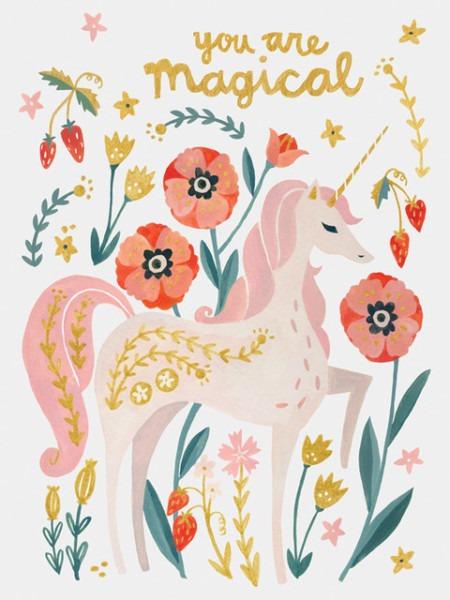 Magical Unicorn, Canvas Wall Art, 10x14