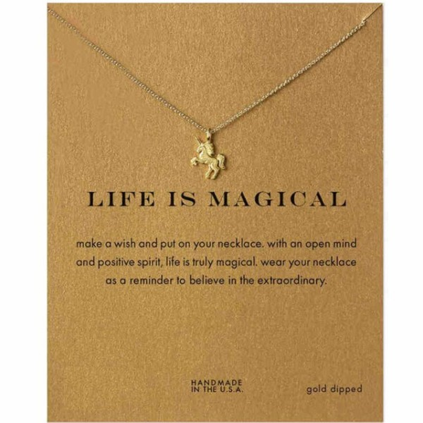 Make Wish New Fashion Simple Cute Unicorn Necklace For Women