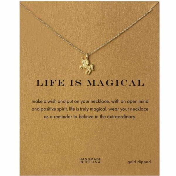 Make Wish New Fashion Simple Cute Unicorn Necklace For Women