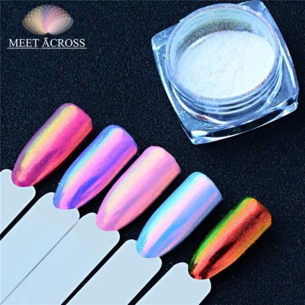 Meet Across 0 2gram Unicorn Chrome Powder Nail Art Chrome Pigment