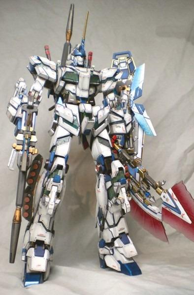 Mg Full Armor Unicorn Gundam  Assembled, Custom Paint