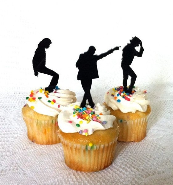 Michael Jackson Cupcake Toppers Set Of 3 By Creativebutterflyxox