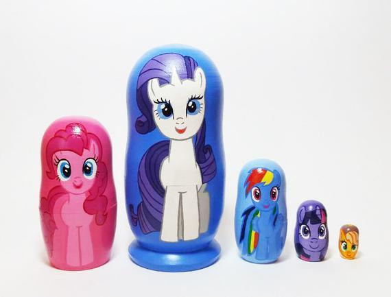 My Little Pony Nesting Dolls Unicorn Toy Horses Matryoshka 5