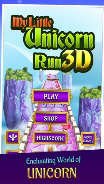 My Little Unicorn Runner 3d By Vasco Rouw