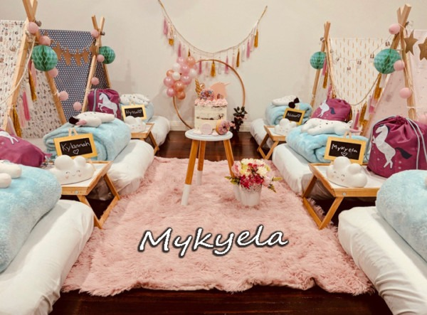 Mykyela's Unicorn Teepee Party