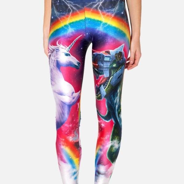 New Fashion Plus Size Unicorn Leggings Women Mid Waist Beautiful
